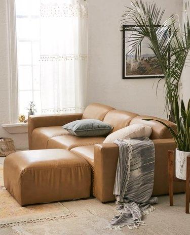 Modular Recylced Leather Sofa