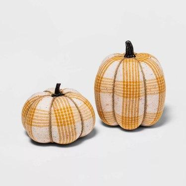 Fabric Wrapped Tweed Pumpkins