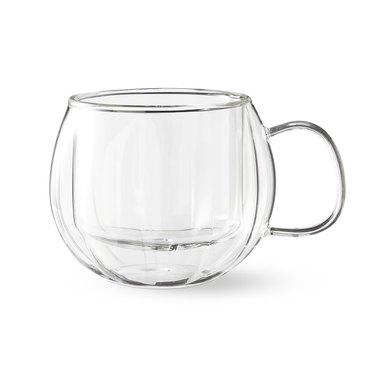 Williams-Sonoma Pumpkin double-walled glass mugs