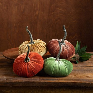 Your Heart's Content Small Velvet Pumpkins