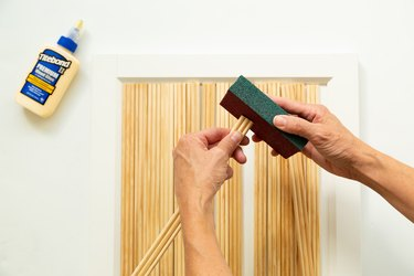 DIY IKEA Hack Billy bookcase with moulding as fluting