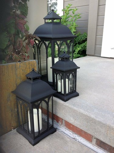 Canora Grey 3-Piece Metal Lantern Set