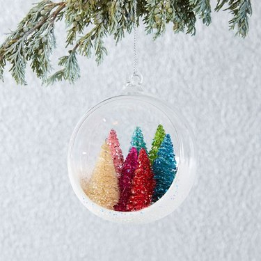 West Elm Forest In Glass Ball Ornament