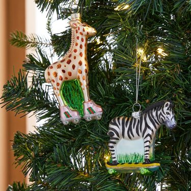 No Kid Hungry Glass Ornaments