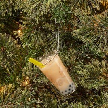 Wondershop Glass Bubble Tea Christmas Tree Ornament