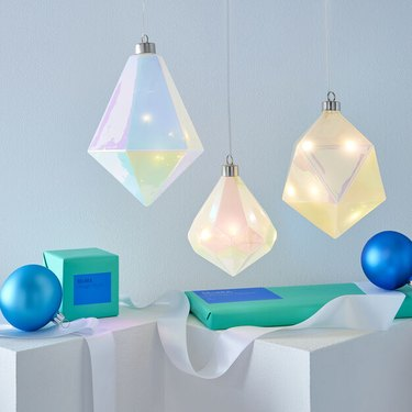 MoMA Design Store LED Winter Gems Glass Holiday Ornament