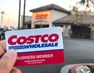 costco business member card in front of store
