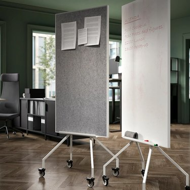 Elloven Whiteboard/Noticeboard With Casters