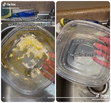 This Trick Removes Grease Stains From Plastic Food Containers in Minutes