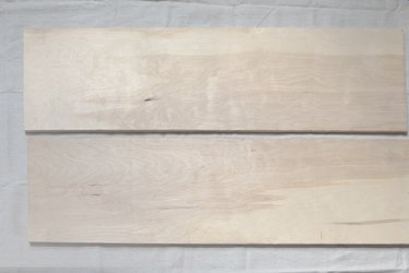 Two wood boards cut to size