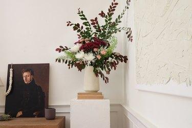DIY plinth pedestal display table