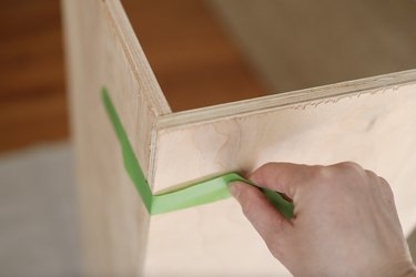 Taping two boards together