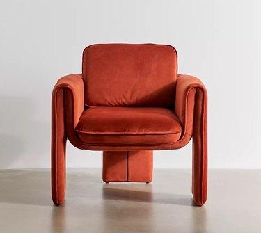 Terracotta velvet chair
