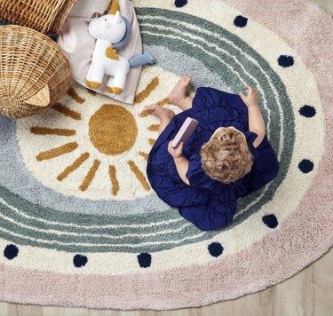 Nestig's New Washable Nursery Rug Collection Is Peak Carpet Cuteness