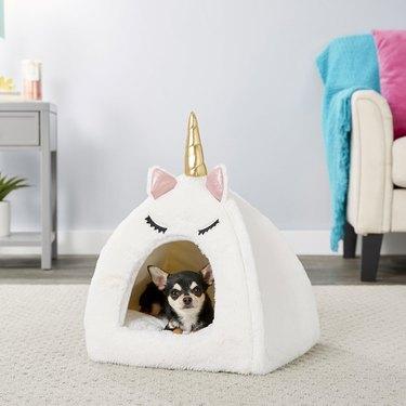 Frisco Novelty Unicorn Covered Cat and Dog Bed