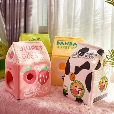 Maple Raccoon Milk Carton Pet Bed