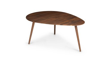Irregular shaped tripod wood minimal coffee table