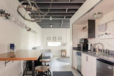 White-walled industrial kitchen