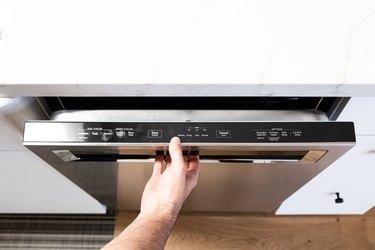 opening dishwasher