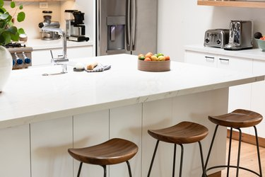 kitchen island with counter stools