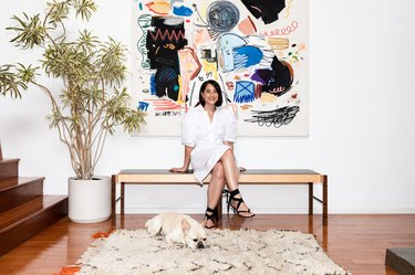 This Cali Loft Boasts Beautiful Artwork, Plenty of Plants, and a Couch to Die For