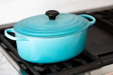 blue Dutch oven cookware