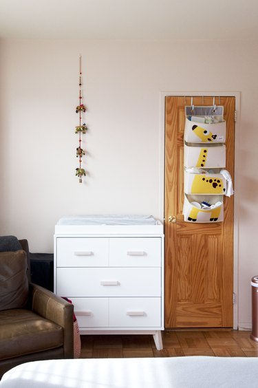Bohemian nursery and changing table