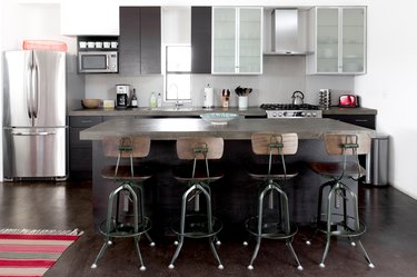 kitchen space with four chairs