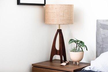 modern wood bedside lamp