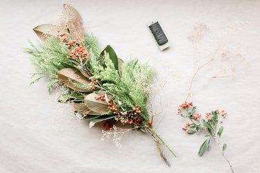 Winter-themed bouquet