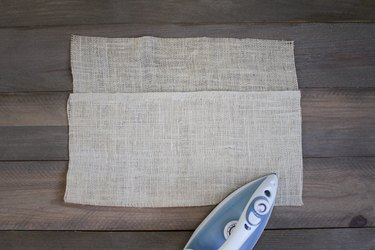 Burlap sheet with iron