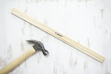 Wood beam with hammer