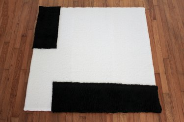 Minimalist black and white shearling art