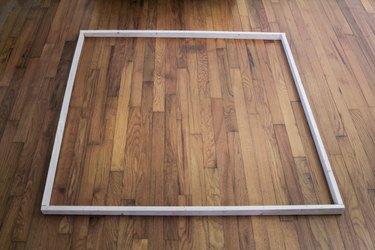 Square wood frame