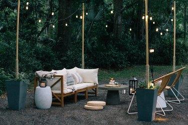 diy outdoor furniture wood frame sofa