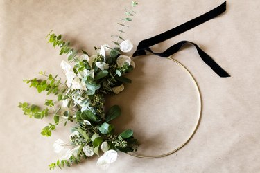Eucalyptus and Gold Hoop Wreath