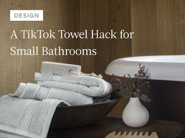 This TikTok Towel Hack Is for the Bathrooms With Zero Storage