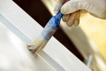 Painting wooden door