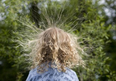 Static electricity creates frizzy and fly-away hair.