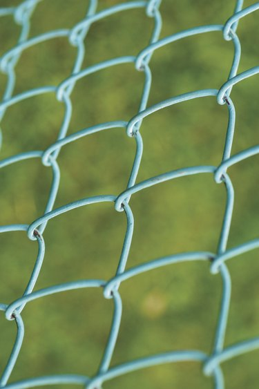 Close-up of a chain-link fence