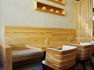 wooden furniture's in a restaurant