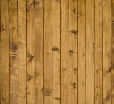 Knotted wood paneling