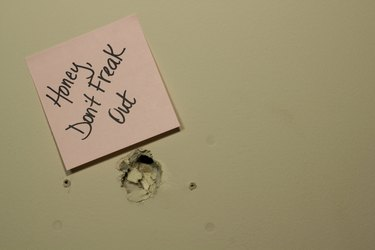 Note on a Hole in the Wall