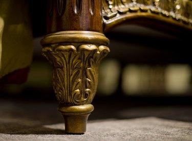 Close-up furniture feet