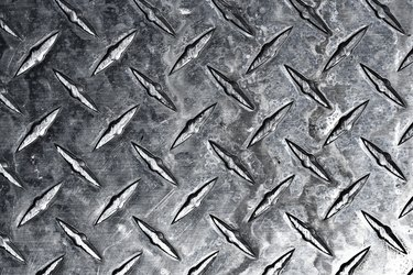 Close-up of steel with rivets