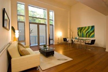 Modern household living room