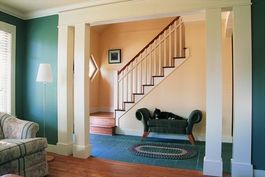View of Staircase from Living Area