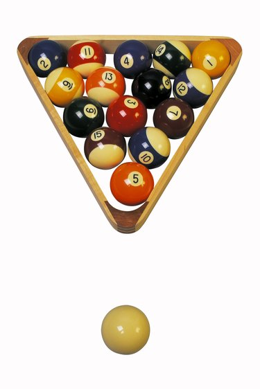 Billiard balls and rack
