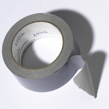 Close-up of duct tape