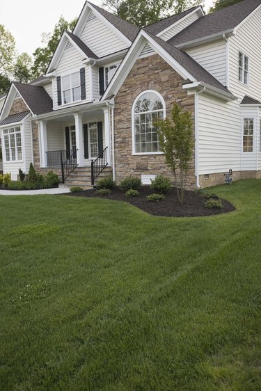 Exterior of house in suburbs